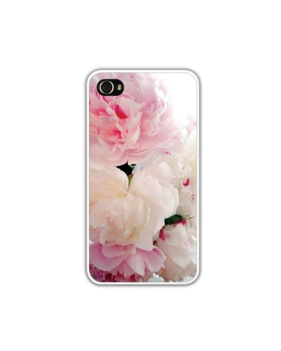 iPhone 4/4s Case, Pink Peonies, Featured On Etsy's Front Page,  Flower iPhone Cover, Wedding/Evening iPhone Case, READY TO SHIP - LovesParisStudio