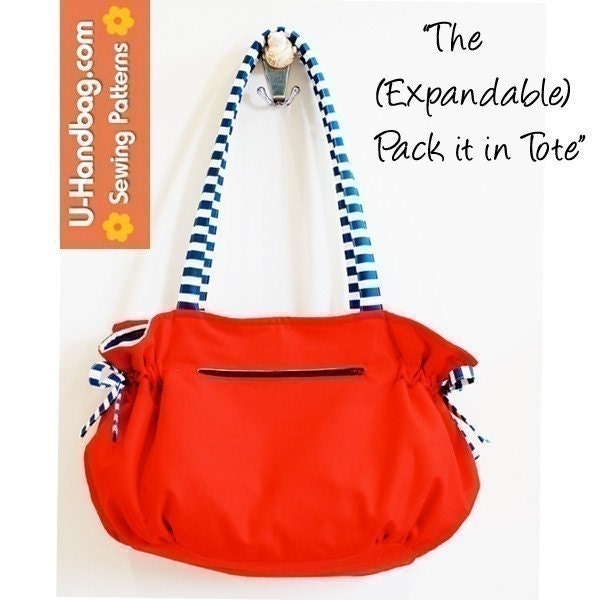 PDF SEWING PATTERN - The (Expandable) Pack it in Tote Bag