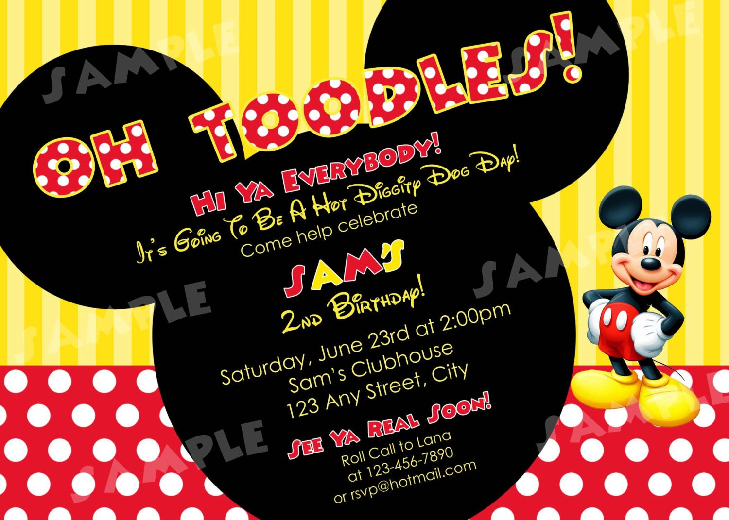 Mickey Mouse 2Nd Birthday Invitations can inspire you to create best invitation template