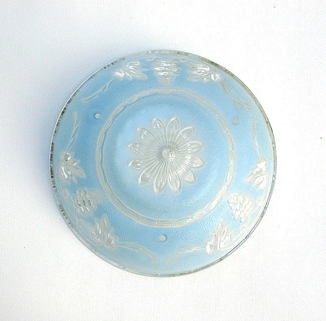 Antique Ceiling Light Shade Vintage Glass Cover By Uncommoneye