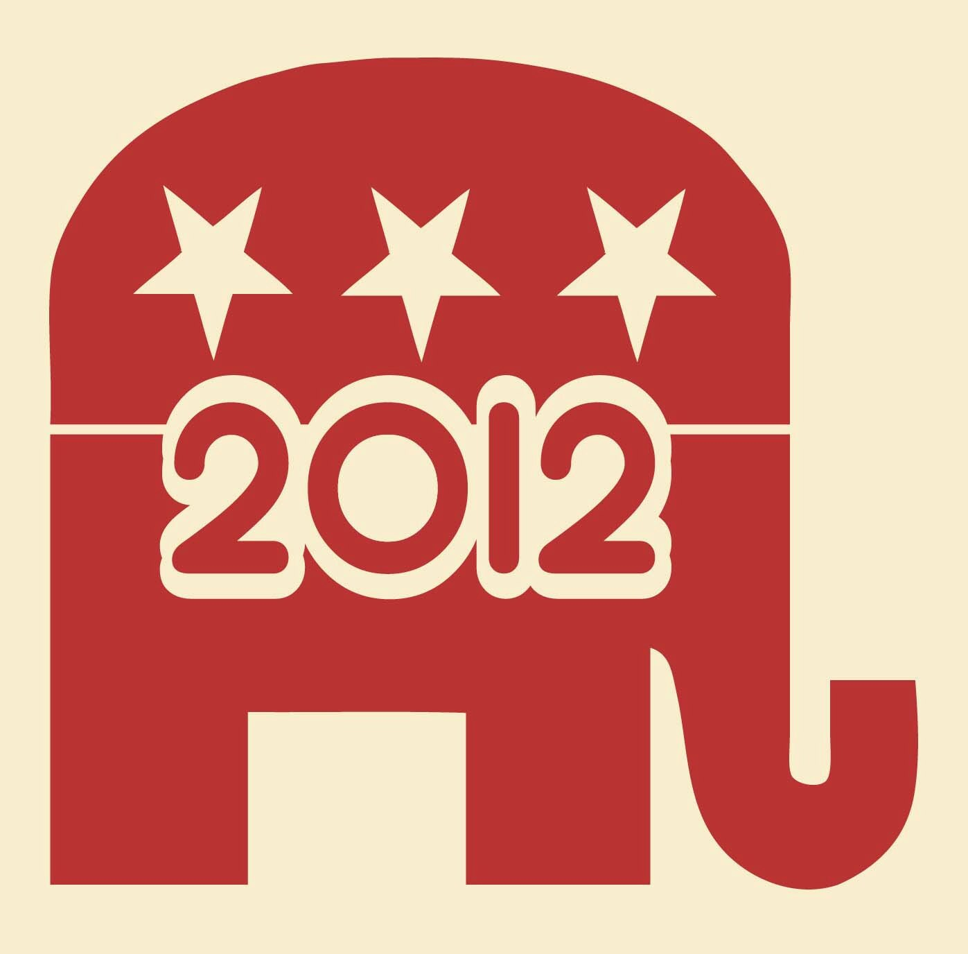 Republican Elephant 2012 Political Vinyl Sticker Decal