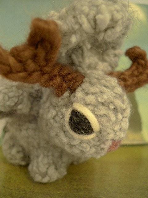 wolpertinger pet wow handmade plush jackalope by lulahoops