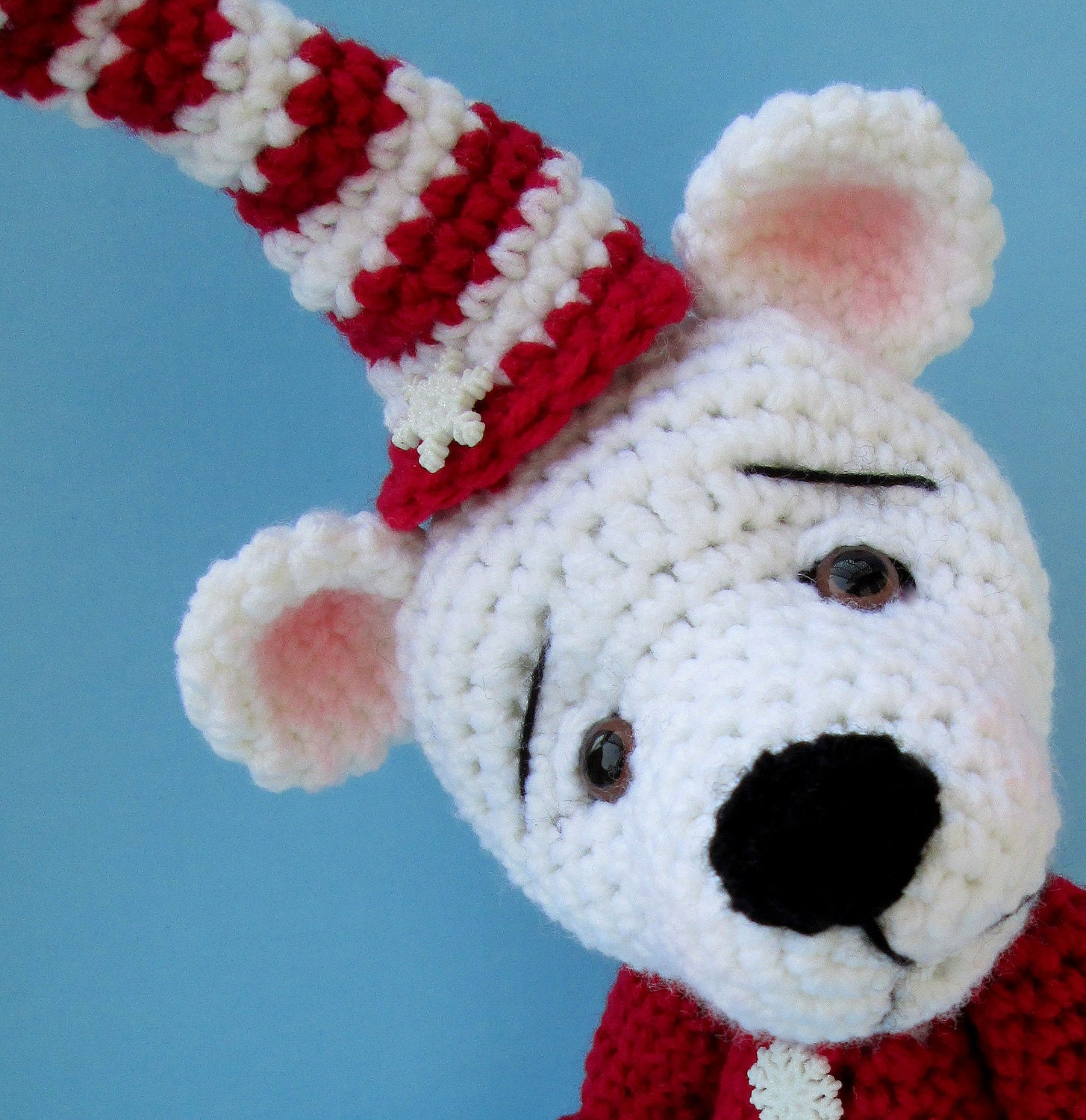Polar Bear Crochet Pattern, PDF Format,  Teri Crews - Wool and Whims