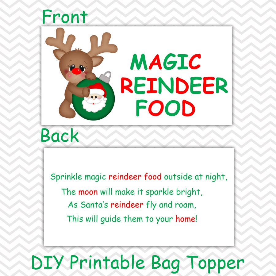 Christmas Magic Reindeer Food Personalized DIY by sharenmoments