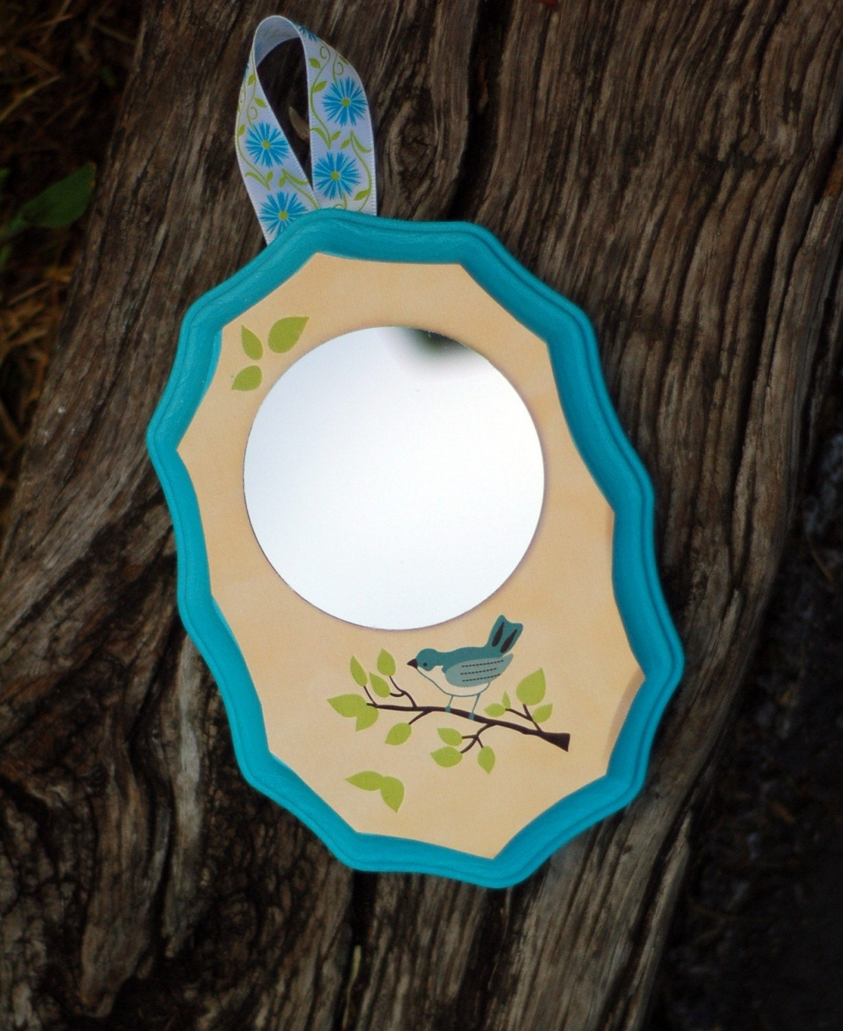 Bluebird Mirror Wall Hanging