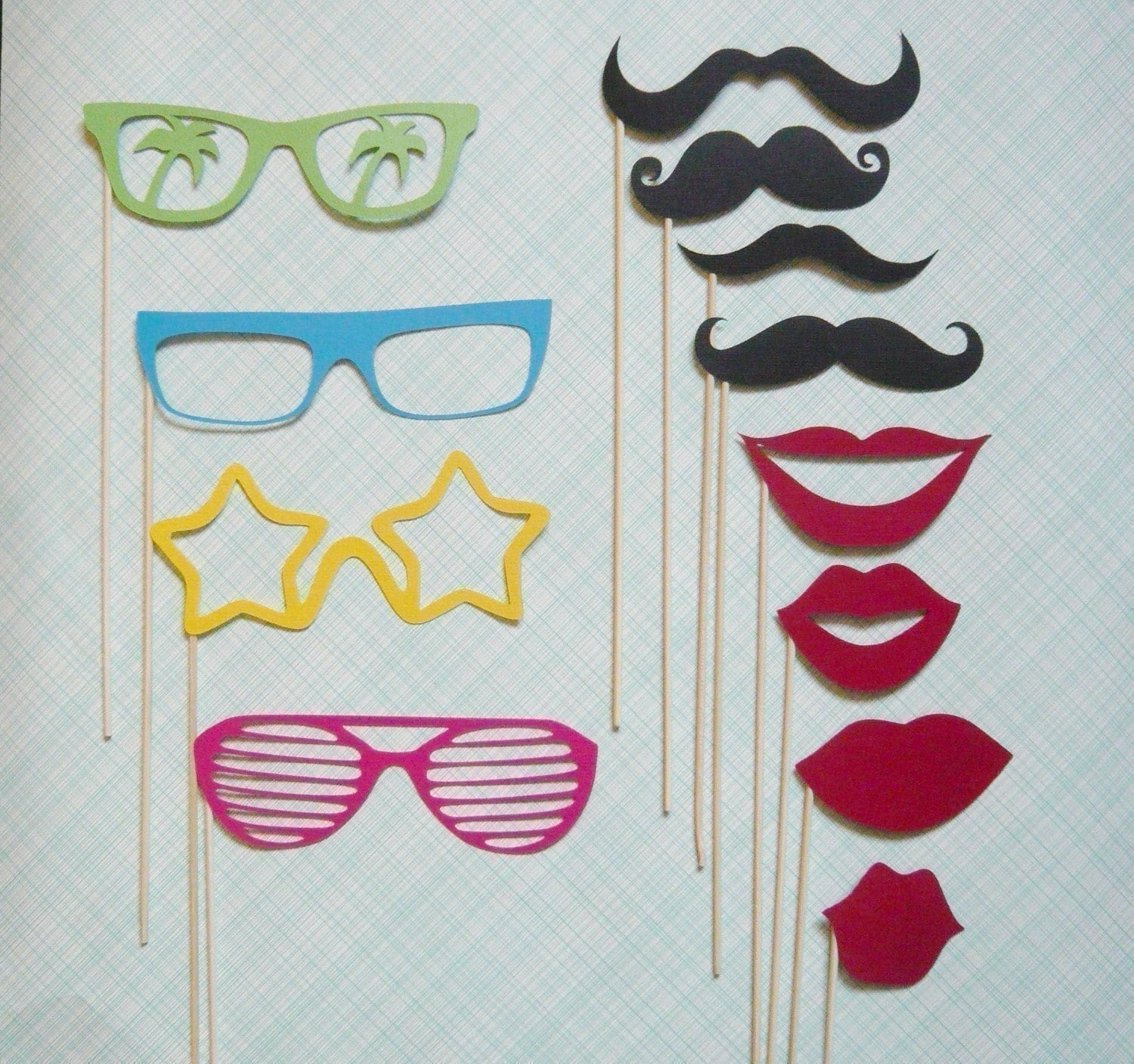 Rockin Party on a Stick - Twelve Piece Photobooth Prop Set