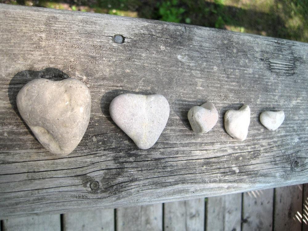 Stone Hearts - Heart Shaped Stones - Natural Stone Heart - WaveSong