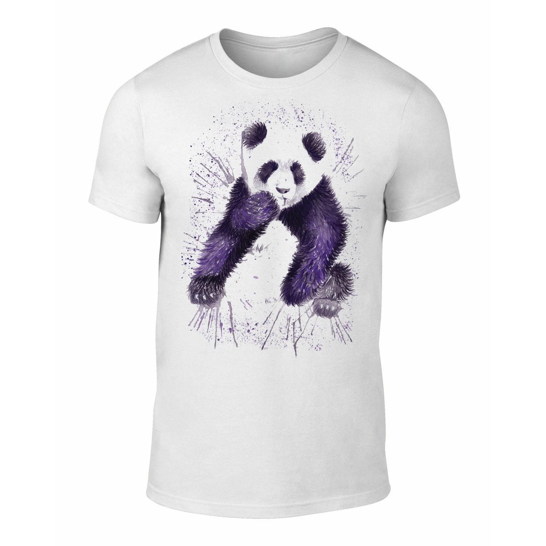 Unisex Panda Watercolour TShirt Panda Tee Panda Art Clothing Gift S M L XL