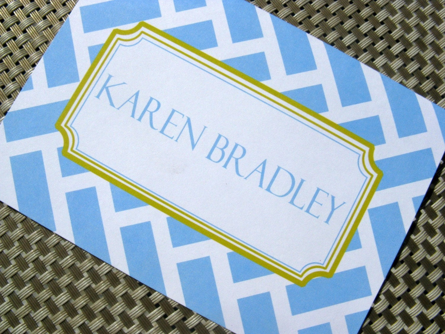 Preppy Geo - Note Cards - Set of 12