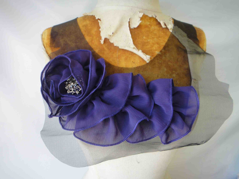 Мода кусок трепал аппликация фиолетового цвета 1 шт листинга