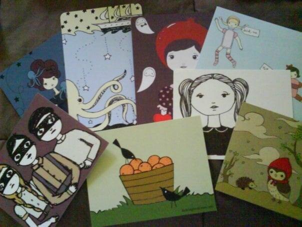 littlebighead postcard/notecard variety pack