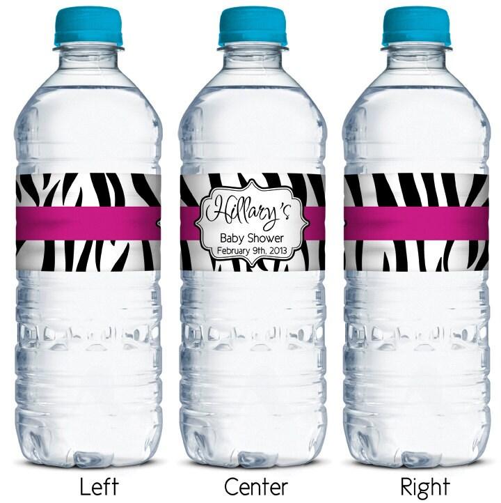 waterproof water bottle labels zebra stripes by ...