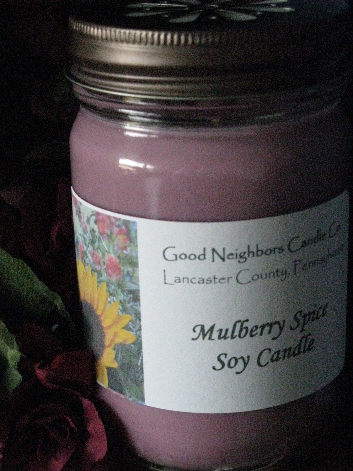 12 Ounce Mulberry Spice Soy Candle