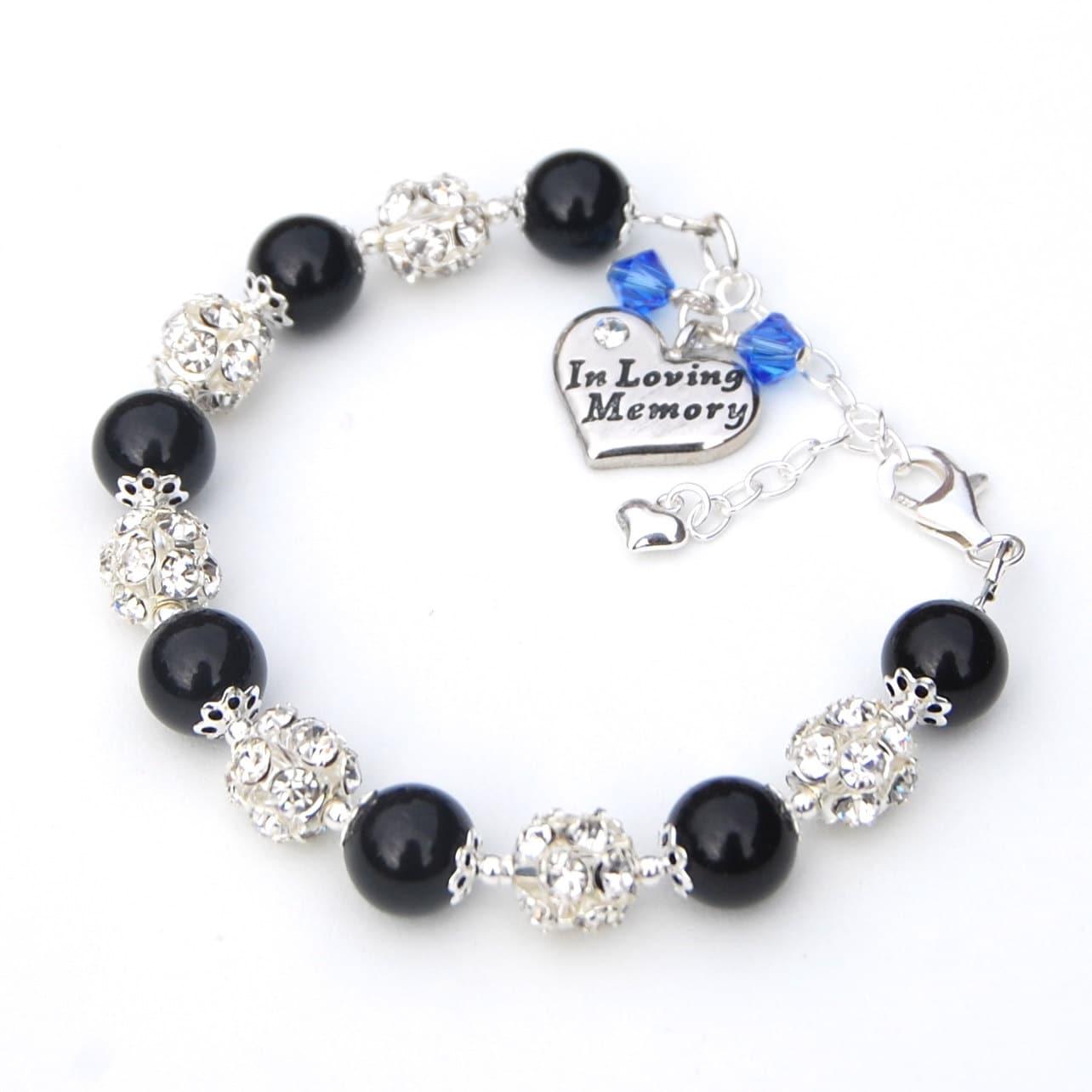 in memory jewelry in loving memory charm bracelet by