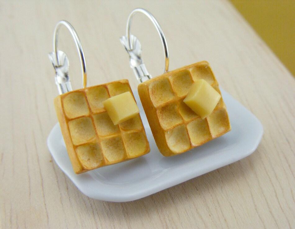 Buttered Серьги вафельный