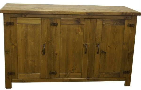 Rustic plank Furniture NEW Real Solid Wood Sideboard Dresser Base Cupboard and Doors Rustic Plank Sawn Pine Furniture rustic pine