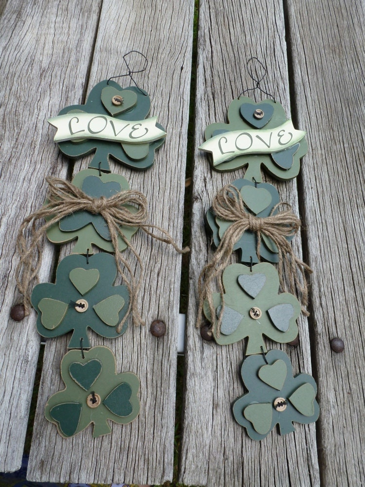 CELTIC WEDDING SHAMROCKS LarGe DECoRATIONS For By TheCelticHeart