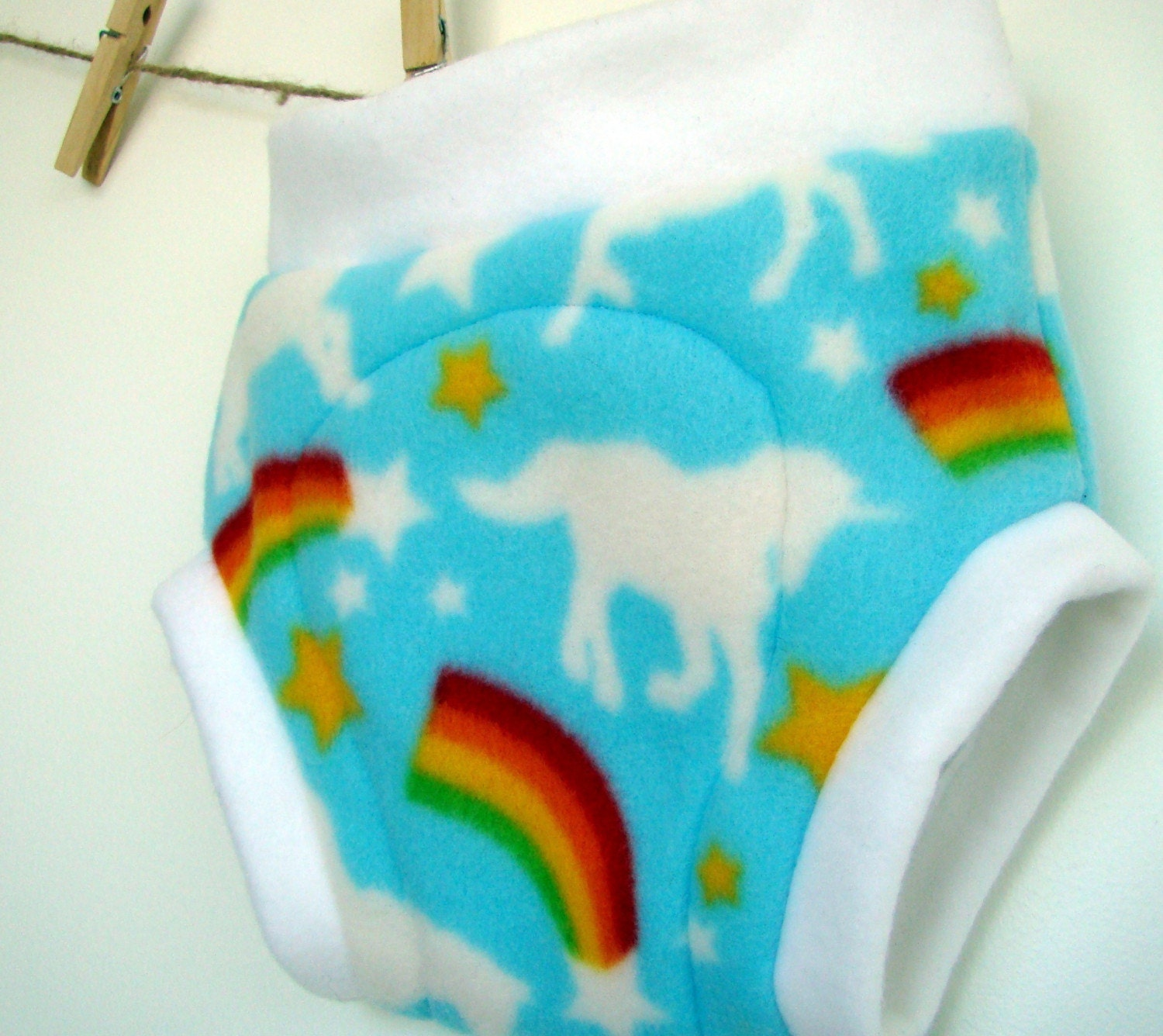 Unicorn Fleece Soaker Cloth Diaper Cover S M L