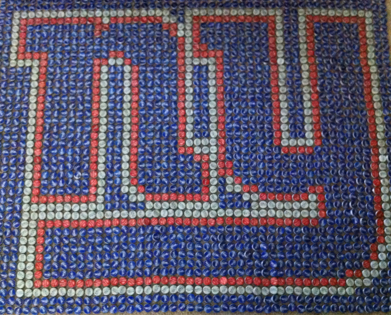 New York Giants Bottle Cap Art - SittingOvationArt