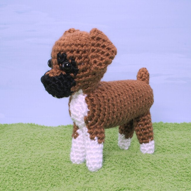 Amigurumi Dog Patterns : AmiDogs Boxer amigurumi dog PDF CROCHET PATTERN by PlanetJune