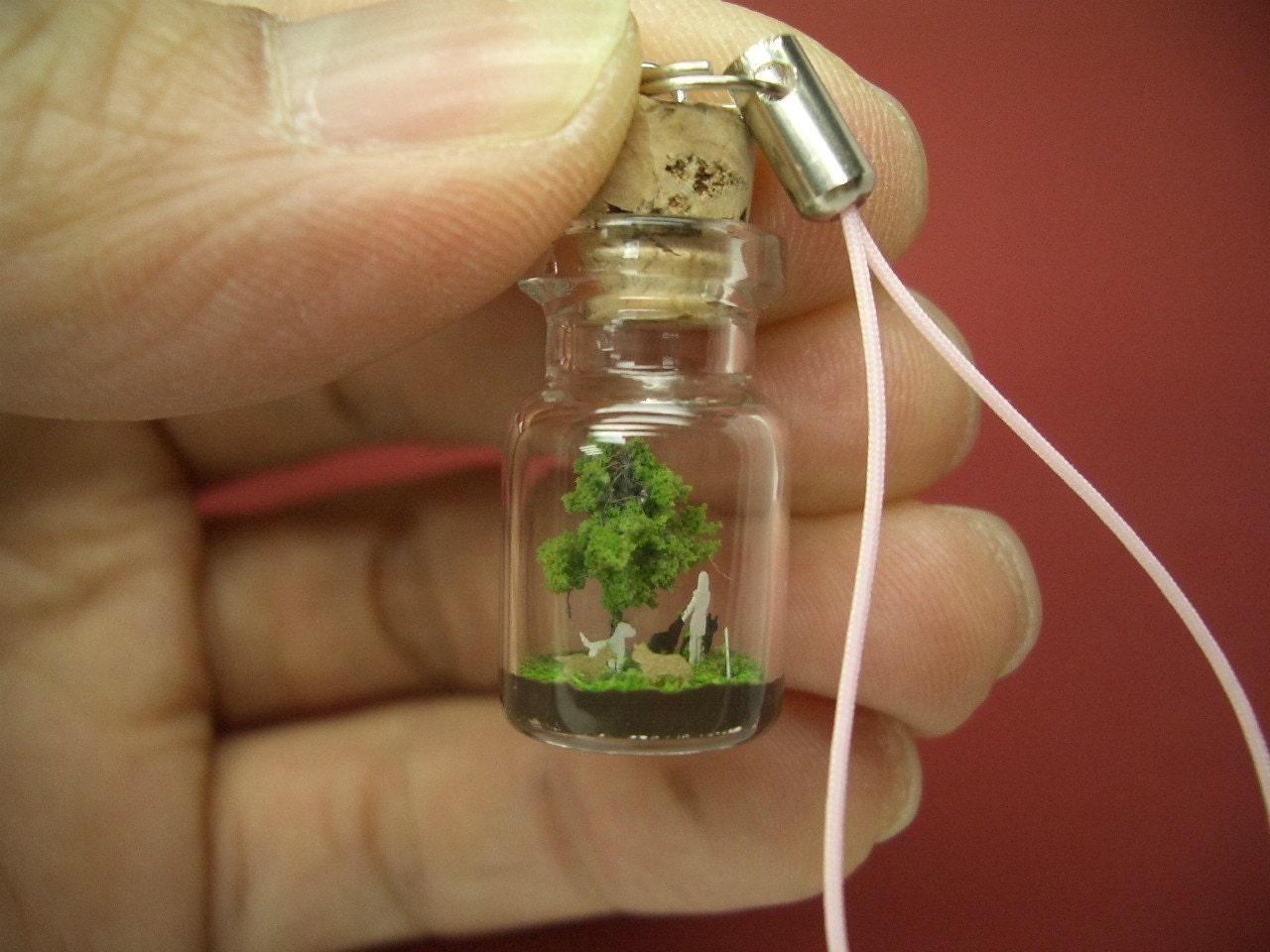 Поделки из маленьких бутылочек стеклянных