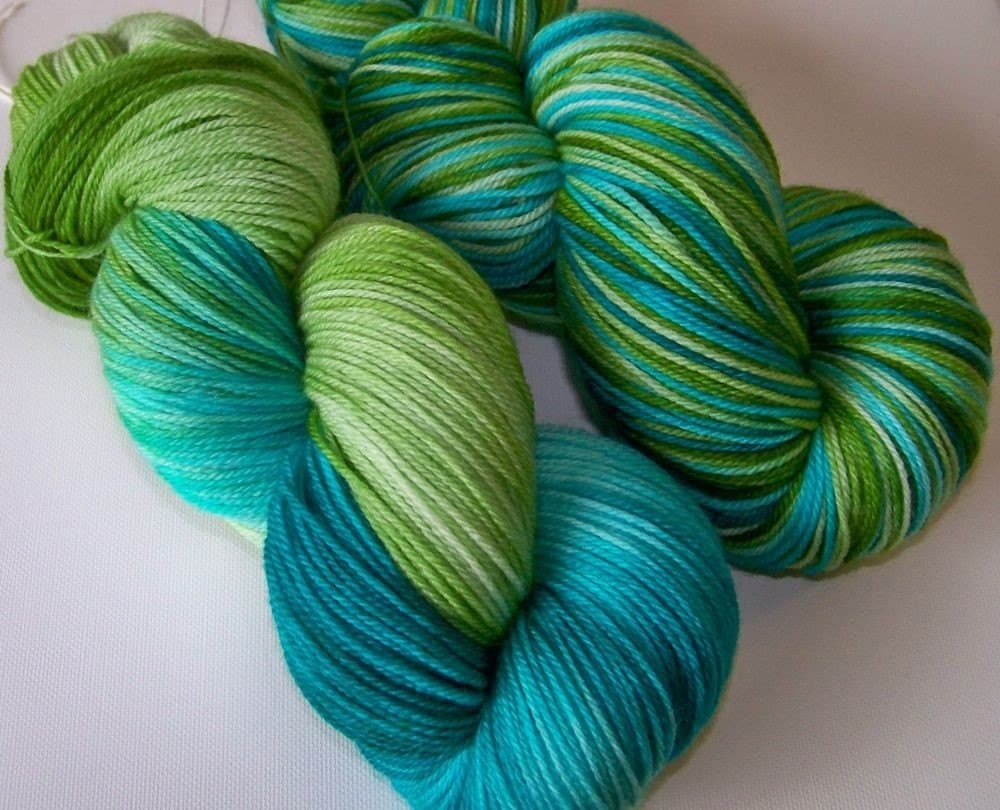 Hand Painted Ultra Merino Superwash Sock Yarn -- My Favorite LYS