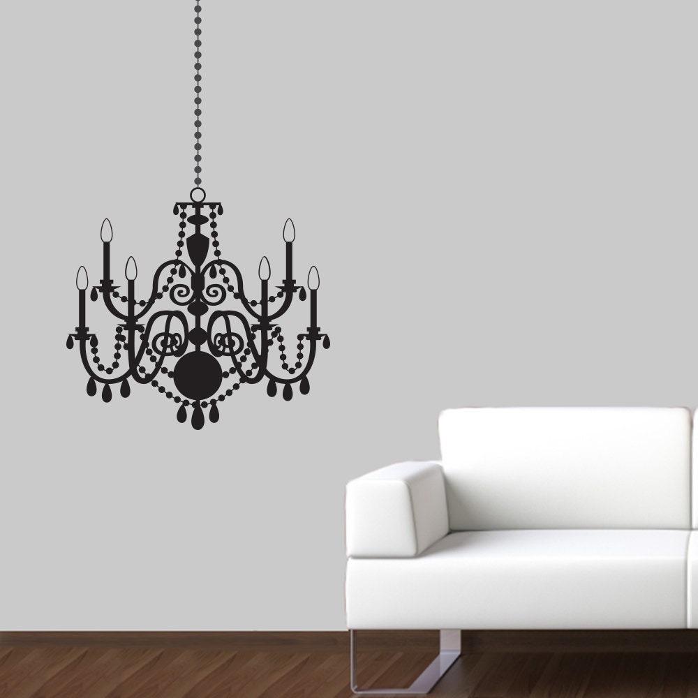 chandelier wall decal wall sticker large by