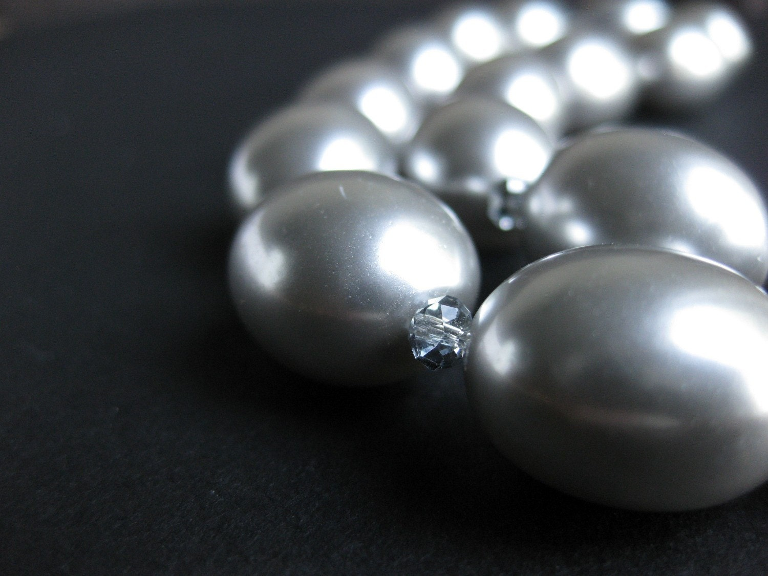 Mother of Pearl Soft Grey Necklace