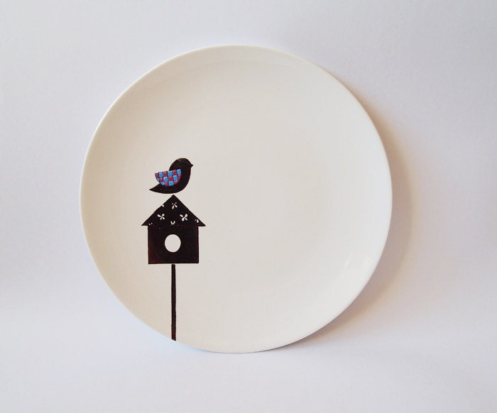 Bird's house plate - Small Size - ZuppaAtelier