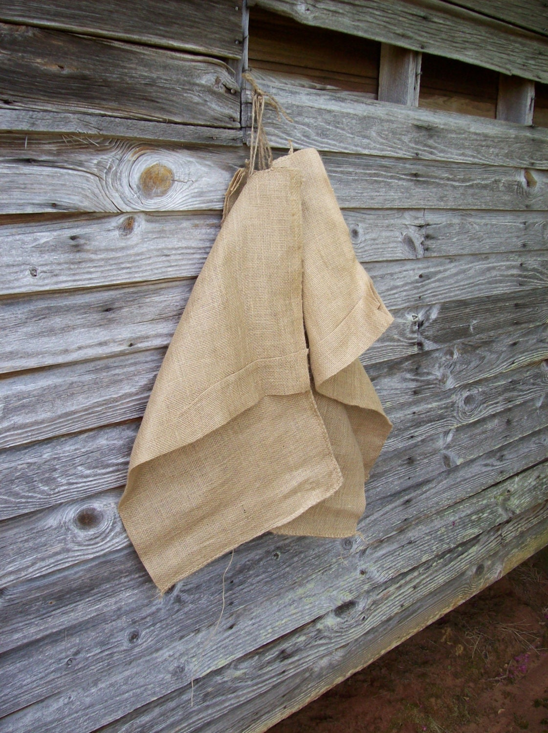 Vintage rustic wedding decor photograph vintage burlap fee Burlap bag decorating ideas