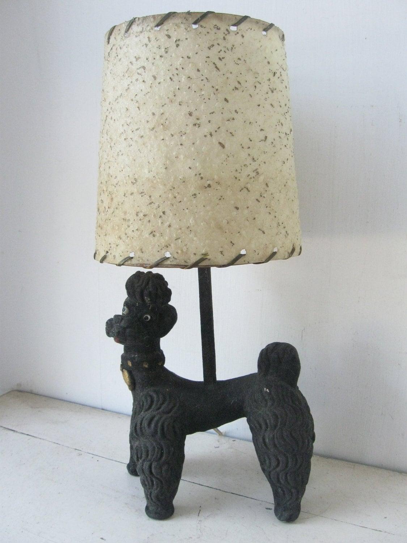 vintage poodle lamp