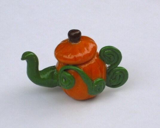 Miniature Pumpkin Teapot