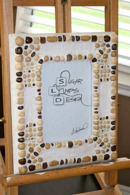 Wooden Beaded Mosaic Frame