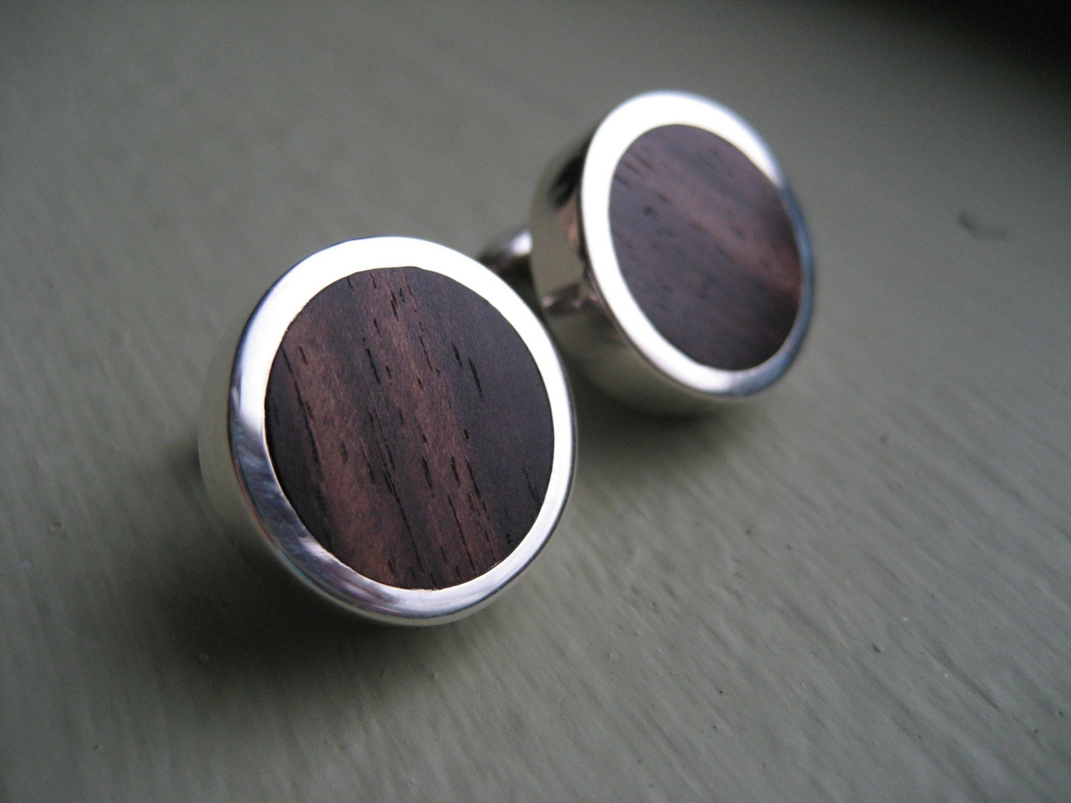 Palm wood cufflinks