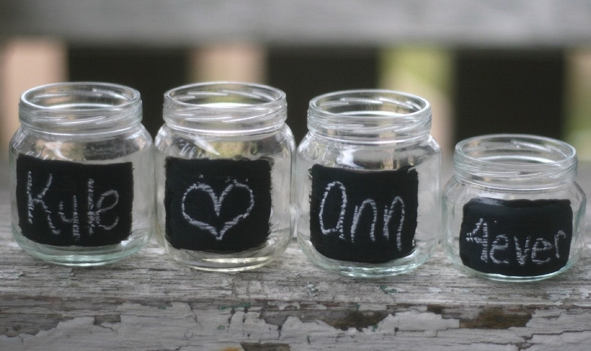 Garden Party Upcycled Glass Jars