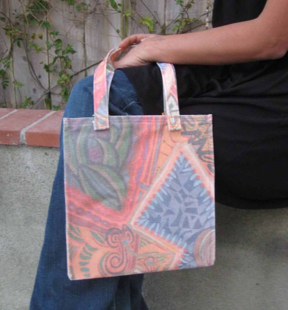 Handmade Bags and purses on Etsy - cute fishy printed tote by maxineorange