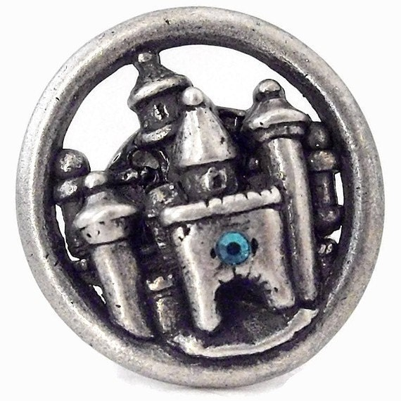 Whimsical Pewter Castle Ring