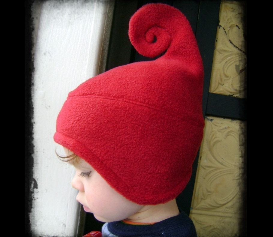DEEP RED infant/kids swirl hat... any size.