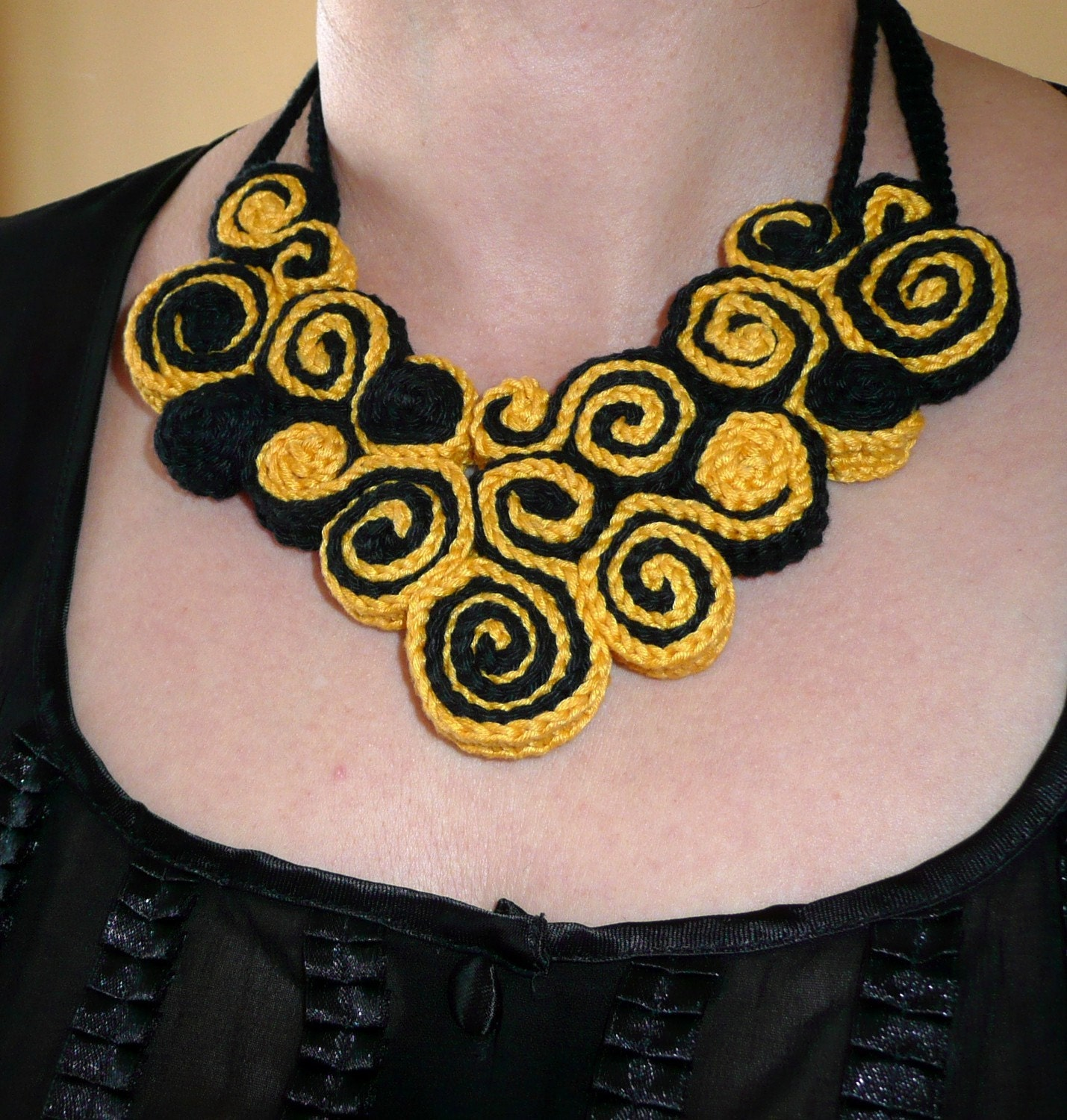 selling handmade crafts online: unique crochet jewelry