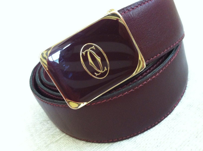 vintage cordovan faux cartier dress belt 36 38 by