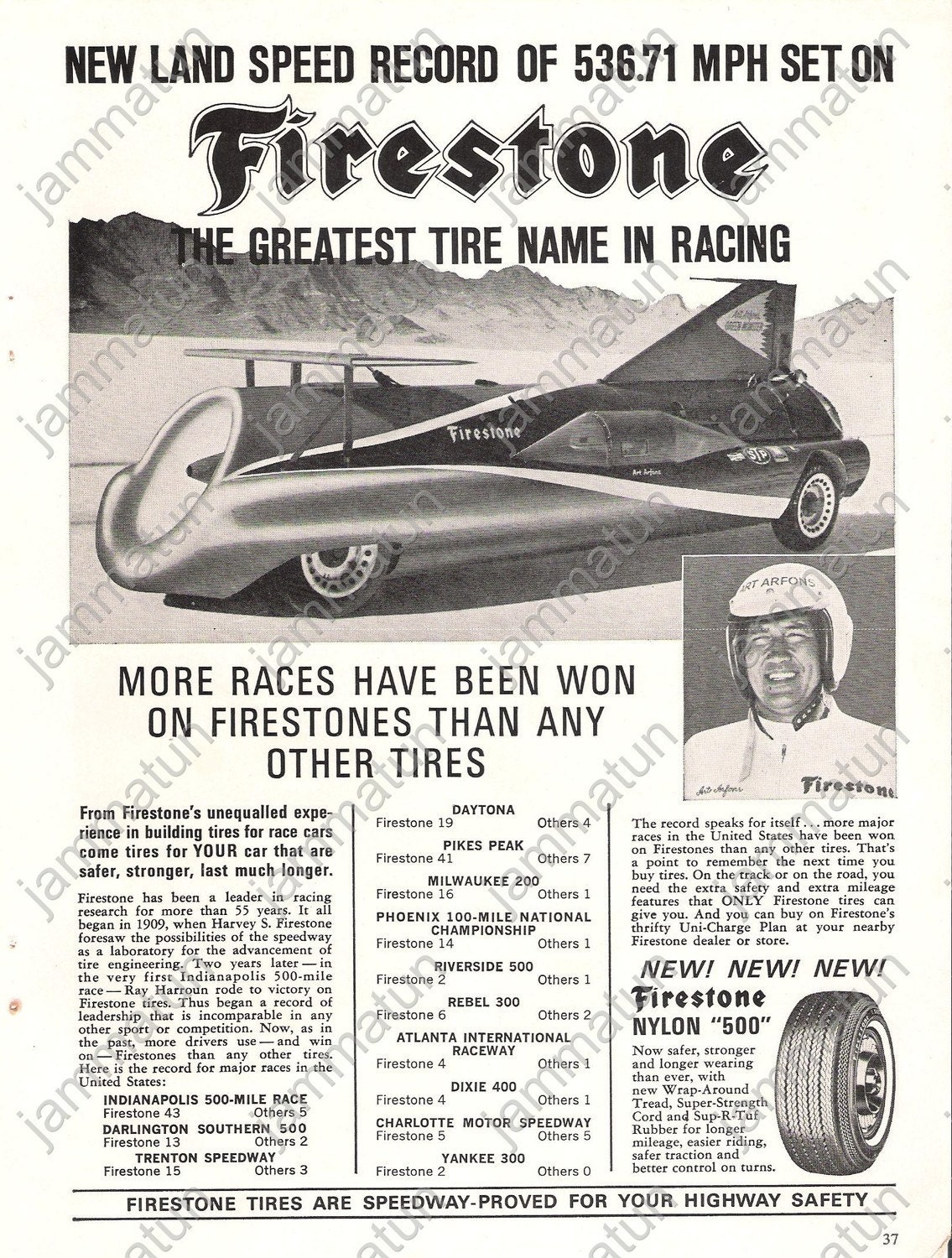 1965 Print Ad, Firestone & Simca Autos. From jammatun