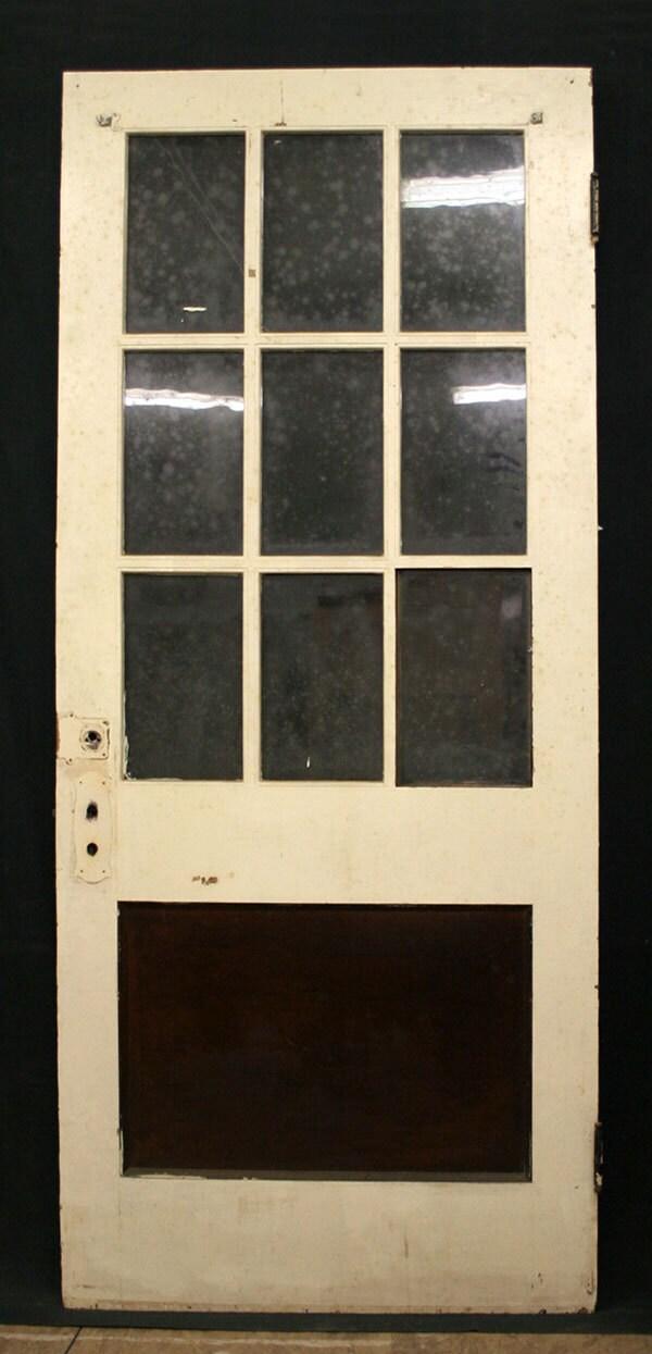 36x84 Antique Exterior Entry Birch Wood Door By PennAntiqueRestore