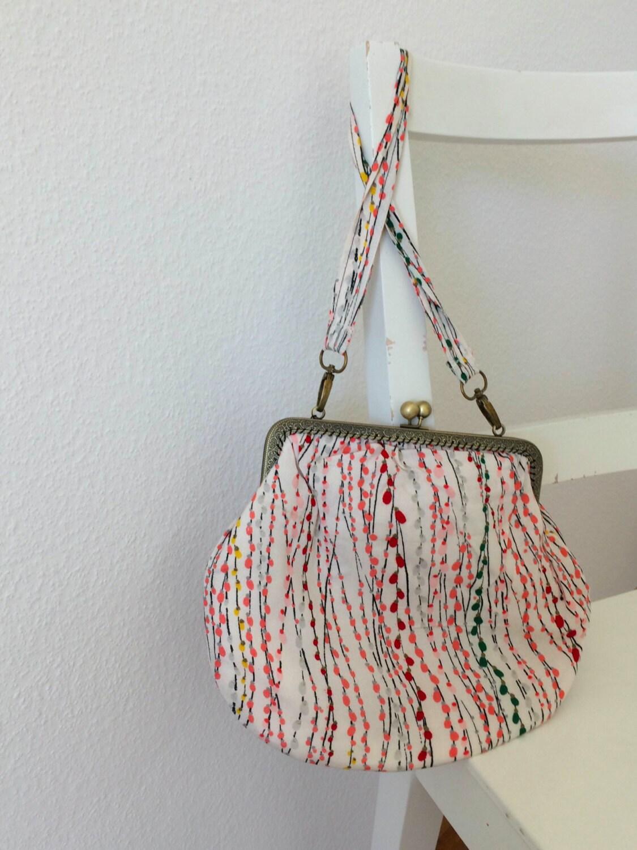 Handmade vintage kimono handbag