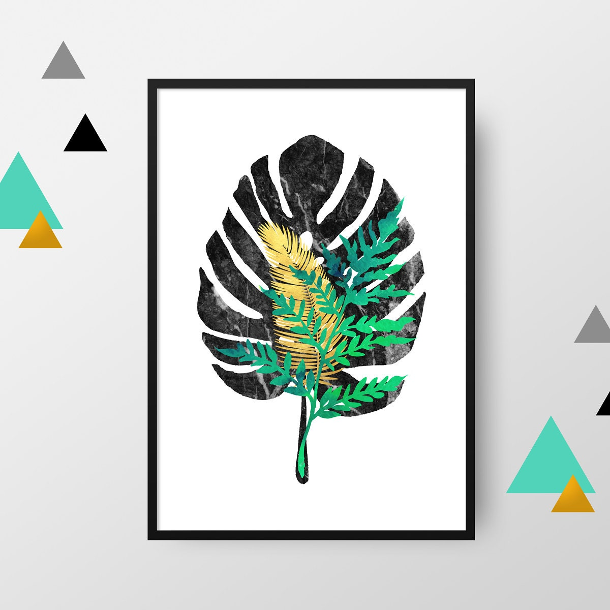 Image du produit Affiche A4 : Feuilles collection Chic (vendue sans cadre)