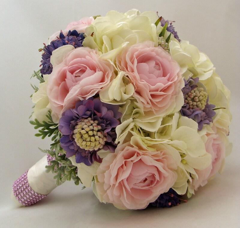 Silk Flower Bridal Bouquet Groom 39 S Boutonniere Wedding Bouquet Silk