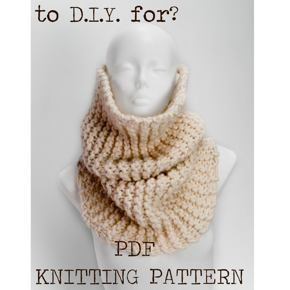 Snood Pattern Knit : Snood knitting pattern / easy knitting by ilovejewelandwool