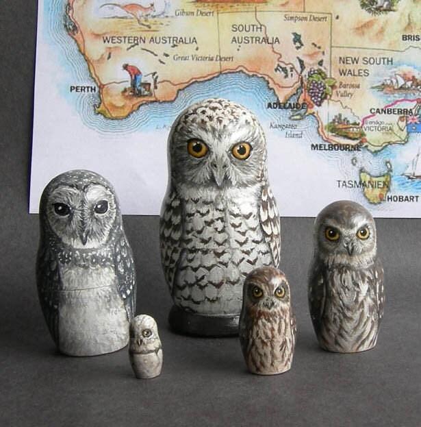 Owl Nest Under Nesting Doll Owls