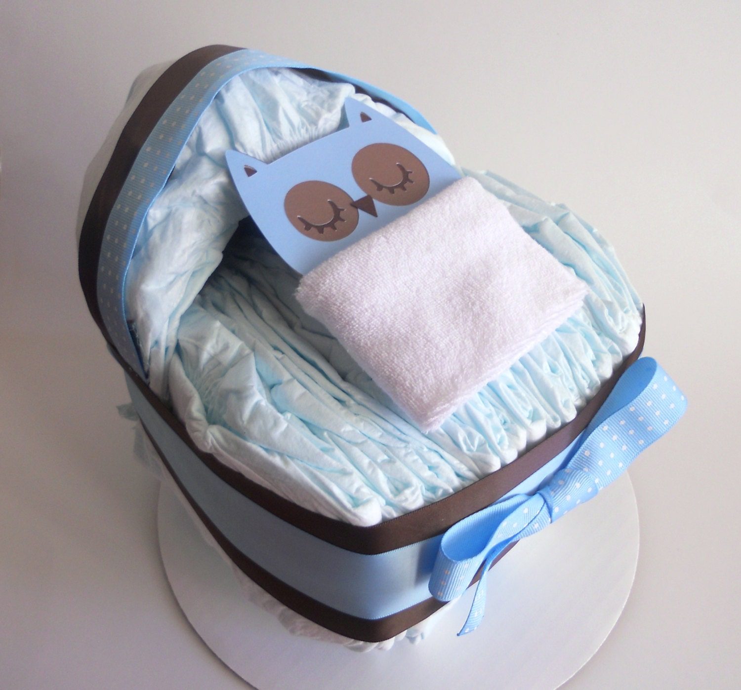 instructions on how to make a diaper owl