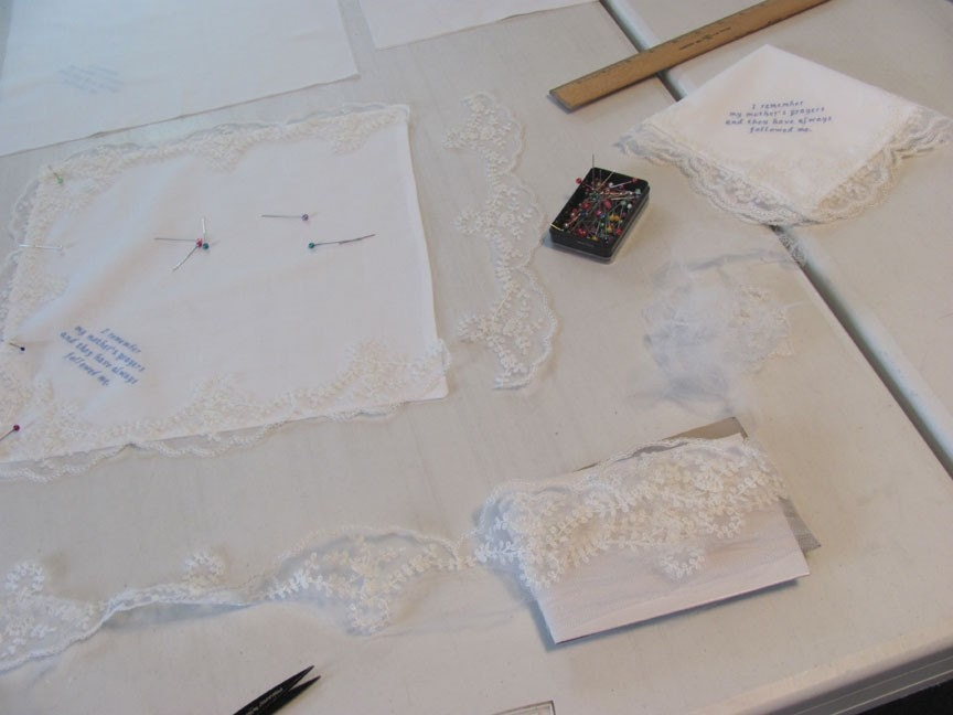 Embroidered Handkerchiefs with Lace