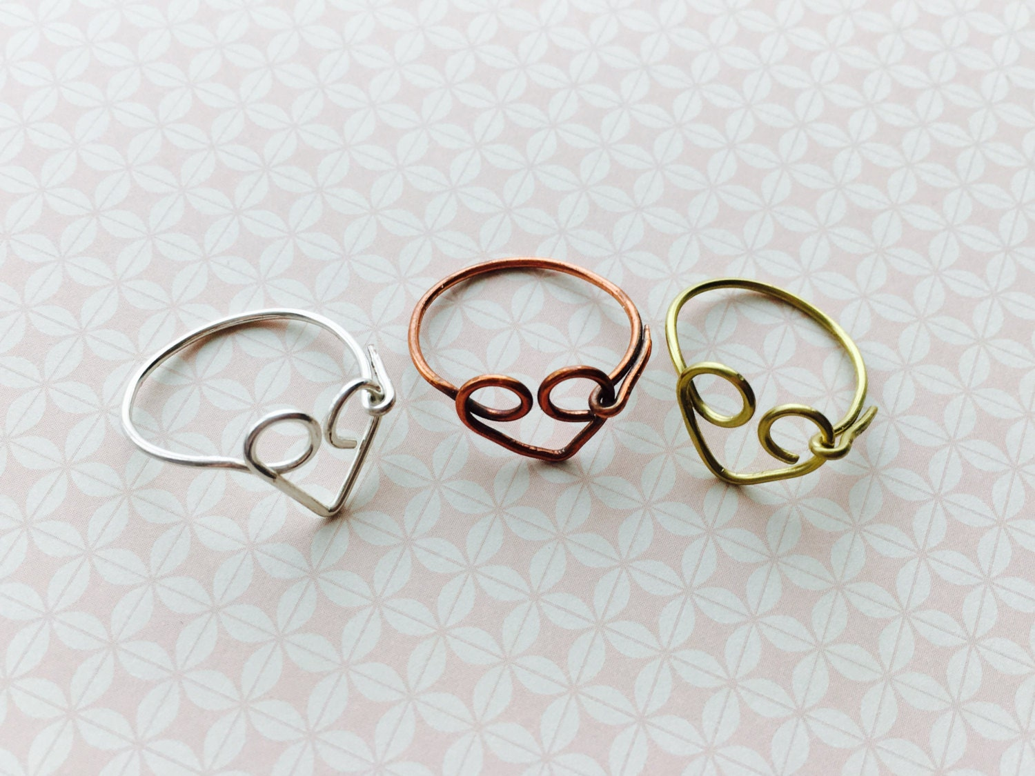 Heart Ring  Silver Ring  Gold Ring  Copper Ring  Open Heart Ring  Love  Promise Ring  Birthday Gift  Best Friend  Bridesmaid Gift